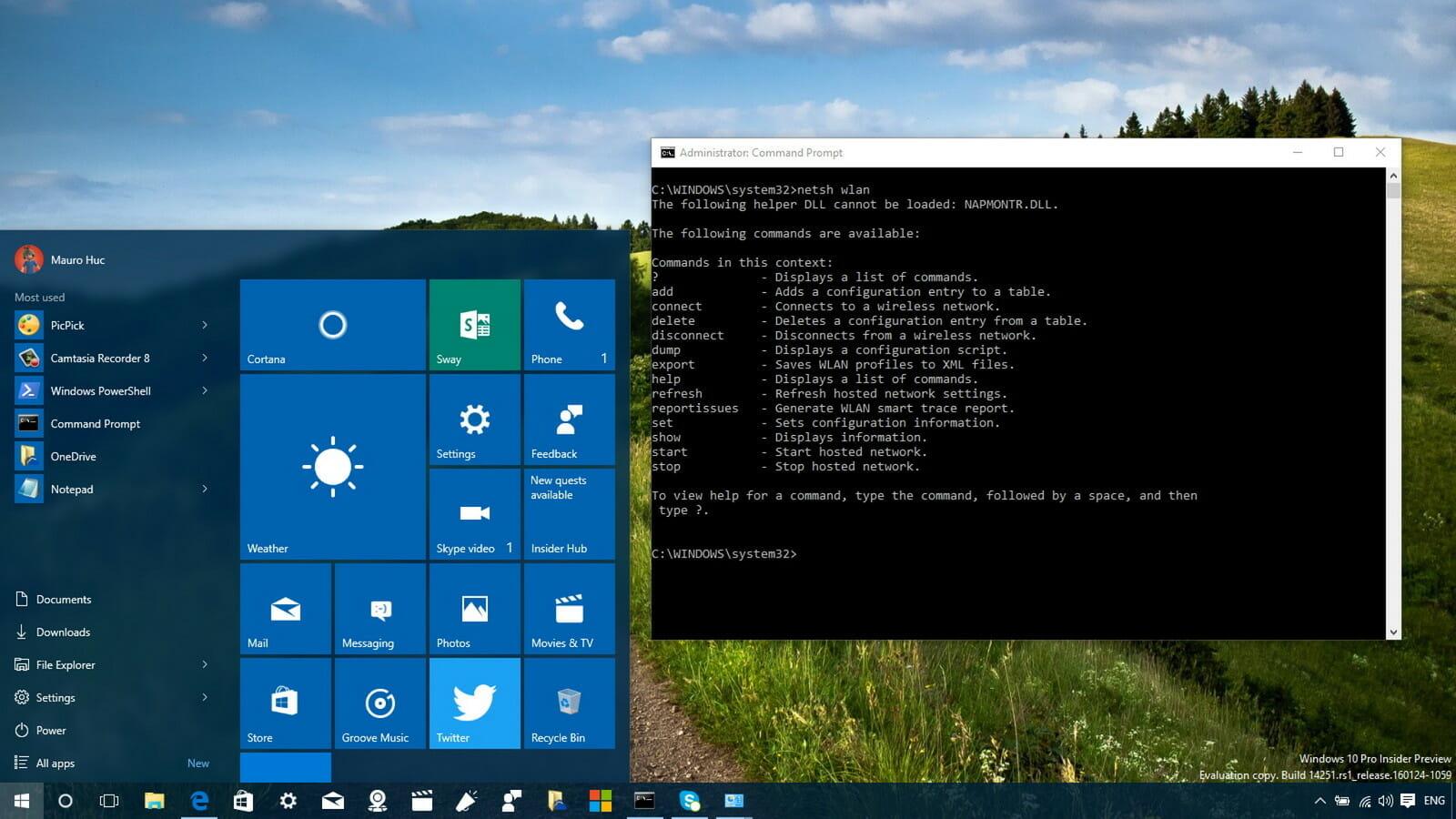 windows 10 netsh wlan Laptop Lê Sơn