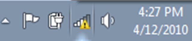 yellow signal on taskbar Laptop Lê Sơn
