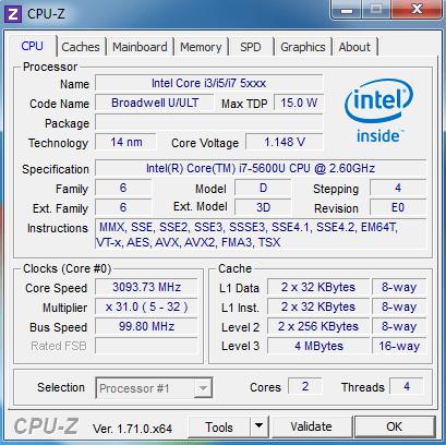 CPU Dell Latitude E7250